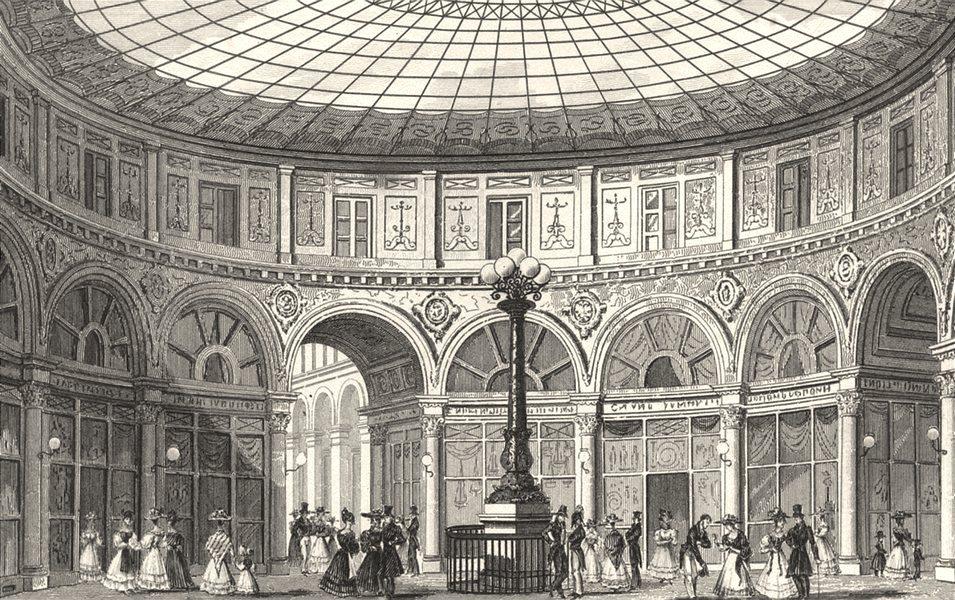 Associate Product PARIS. Rotonde, Passage Colbert 1831 old antique vintage print picture