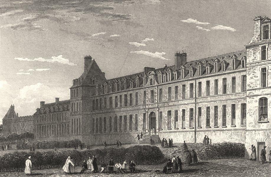 Associate Product PARIS. Messagerie Royale 1831 old antique vintage print picture