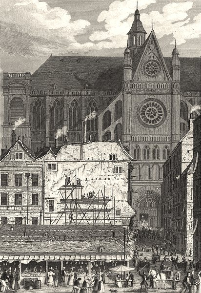Associate Product PARIS. L'Eglise de St. Eustache 1831 old antique vintage print picture