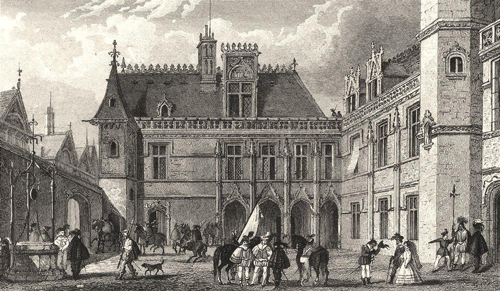 Associate Product PARIS. Hotel de Cluni 1831 old antique vintage print picture