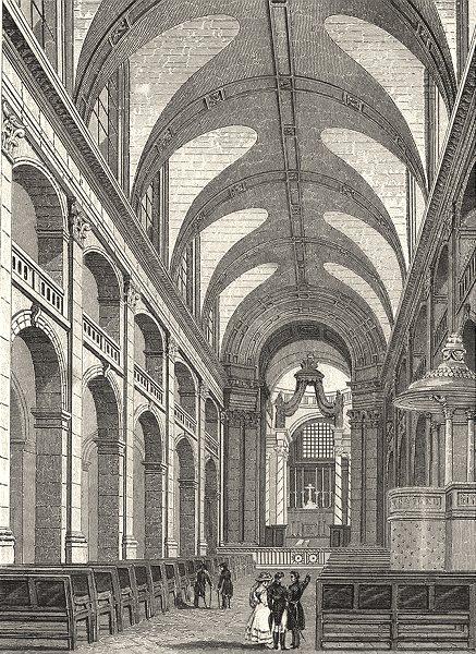Associate Product PARIS. L'Interieur de la Chapelle des Invalides 1831 old antique print picture
