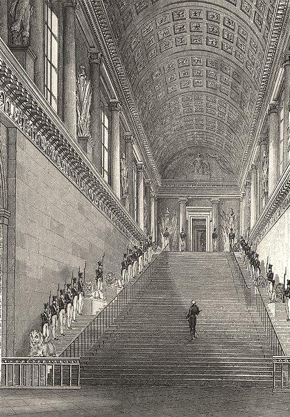 Associate Product PARIS. L'Escalier de la Chambre des Pairs 1831 old antique print picture