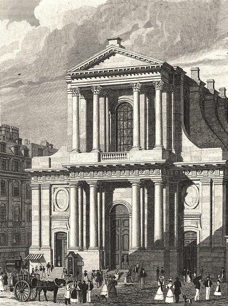 Associate Product PARIS. L'Eglise de L'Oratoire 1831 old antique vintage print picture