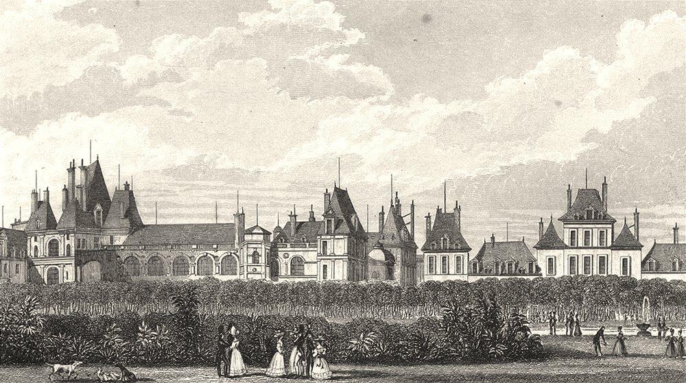 Associate Product SEINE- ET- MARNE. Fontainebleau, Vers le Jardin 1831 old antique print picture