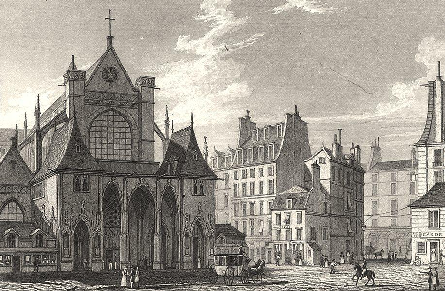 Associate Product PARIS. Eglise de St. Germain L'Auxerrois 1831 old antique print picture