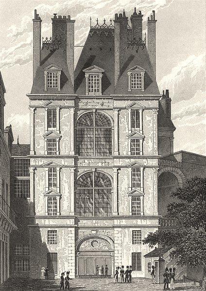 Associate Product SEINE- ET- MARNE. Fontainebleau, Porte Dorée 1831 old antique print picture