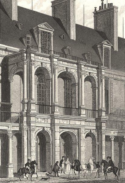 Associate Product SEINE- - MARNE. Fontainebleau, Entrée Apartemens Principaux Cour D'Honneur 1831