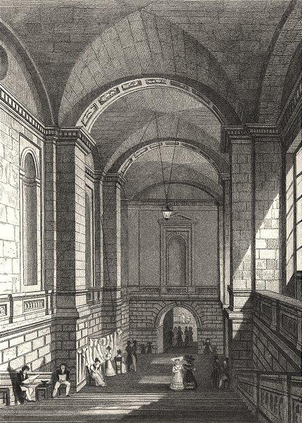 Associate Product PARIS. L'Escalier du Palais de Justice 1831 old antique vintage print picture