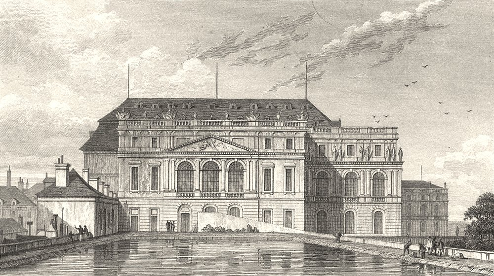 Associate Product YVELINES. Versailles L'Opera, Vers le Reservoir 1831 old antique print picture