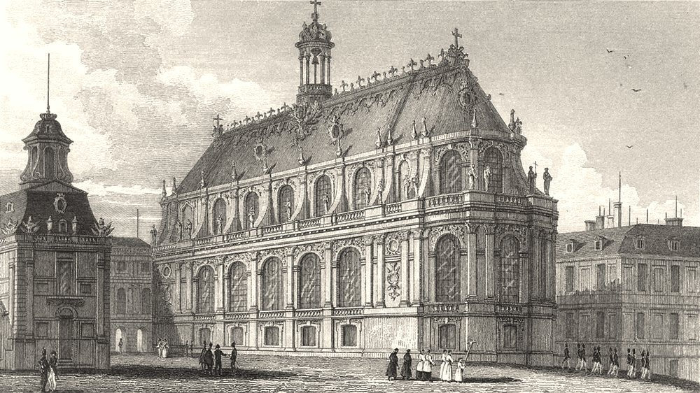 Associate Product YVELINES. Chapelle du Palais de Versailles 1831 old antique print picture