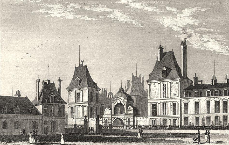 Associate Product SEINE- ET- MARNE. Fontainebleau, Cour des Cuisines 1831 old antique print