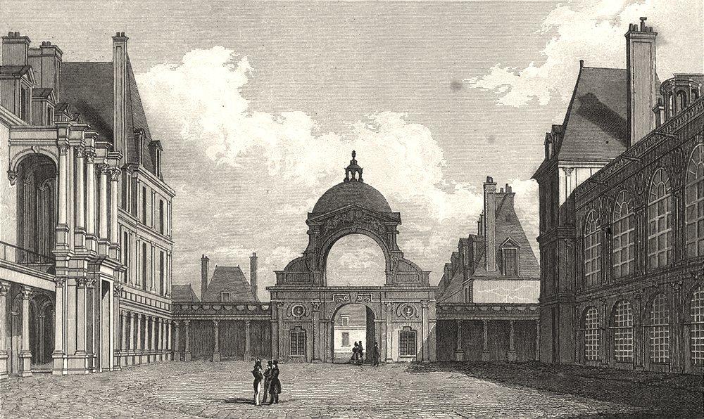 SEINE- ET- MARNE. Fontainebleau, Cour D'Honneur (1)  1831 old antique print