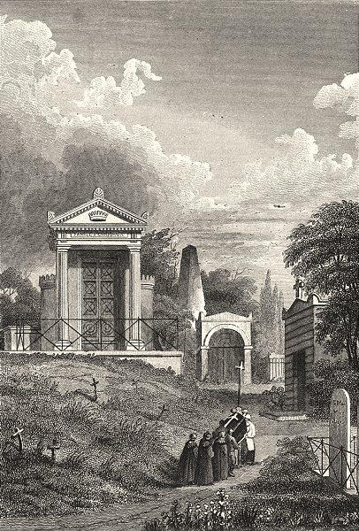 Associate Product PARIS. Monument de la Famille Perrigaux, Pere La Chaise 1831 old antique print