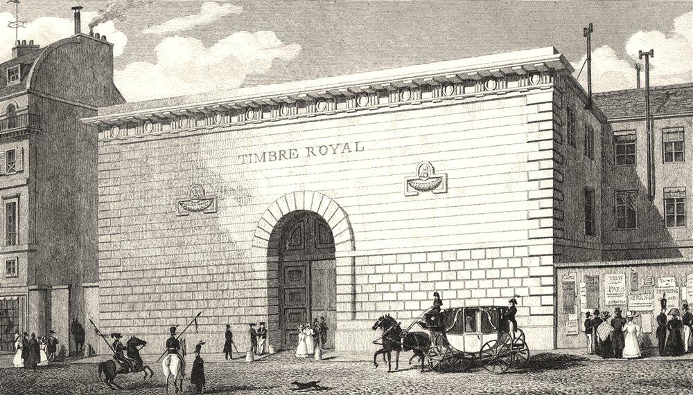 Associate Product PARIS. Timbre Royal 1831 old antique vintage print picture