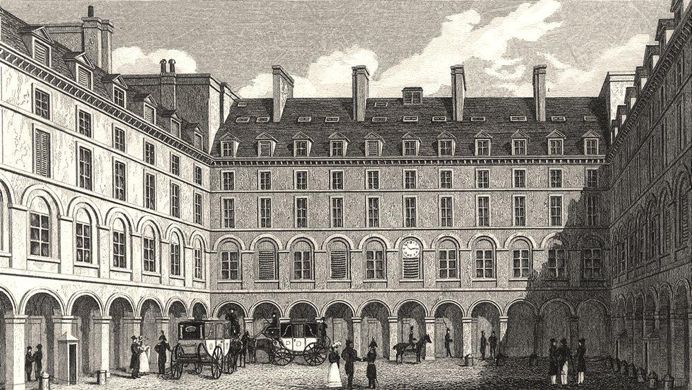 Associate Product PARIS. Cour du Ministre des Finances 1831 old antique vintage print picture