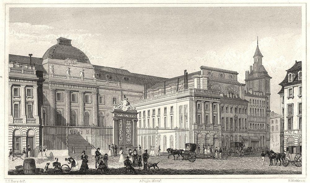 Associate Product PARIS. Palais de Justice, Vers la Rue de la Barillerie 1831 old antique print