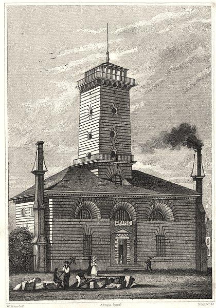 Associate Product PARIS. Pompe á Feu, Gros Caillou 7e 1831 old antique vintage print picture