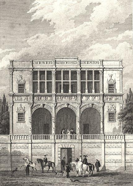 Associate Product PARIS. Maison de François I, Champs Elysées 1831 old antique print picture