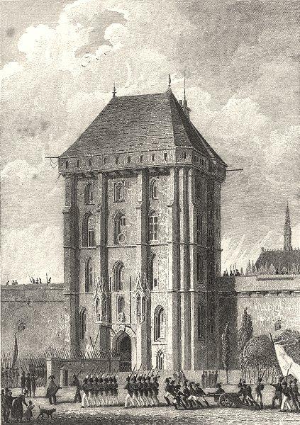 Associate Product VAL- DE- MARNE. Porte D' Entree, Chateau de Vincennes 1831 old antique print