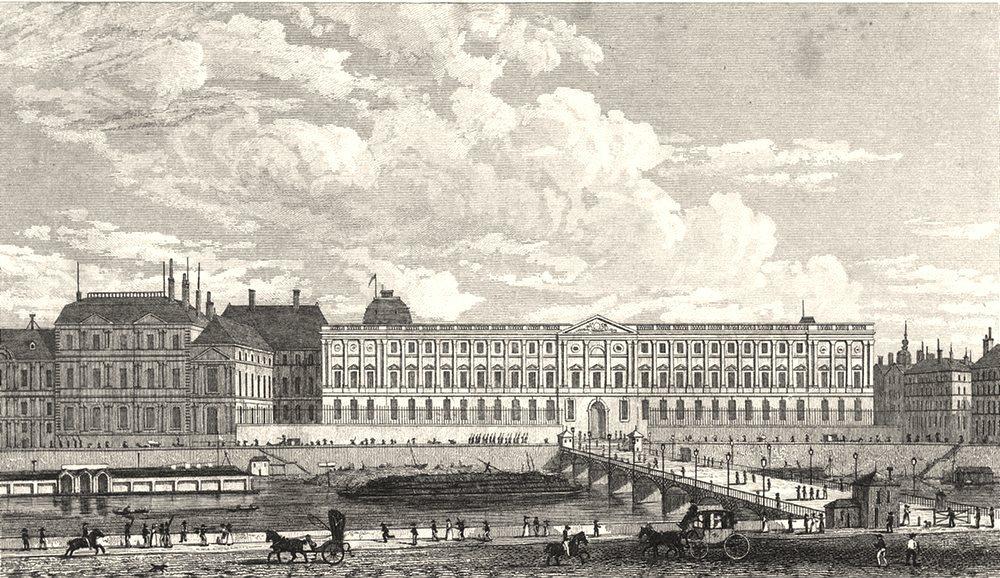 Associate Product PARIS. Vue du Louvre, du Palais de L'Institut 1831 old antique print picture