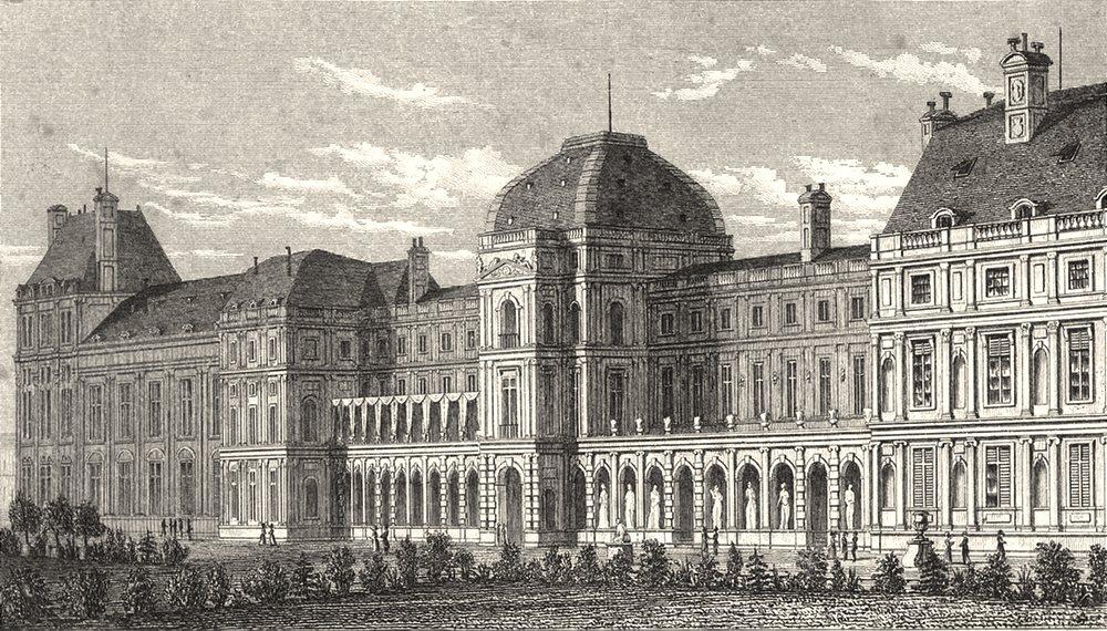Associate Product PARIS. Palais des Tuileries, du Côté du Jardin 1831 old antique print picture