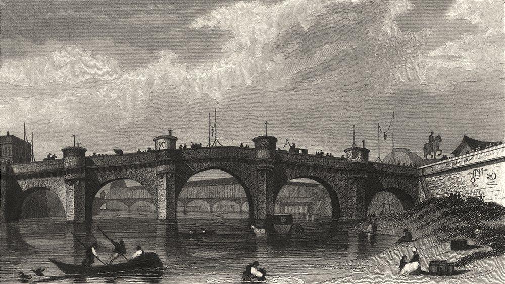 Associate Product PARIS. Du Pont Neuf, Prise Enter Quai des Augustins & Celui Orfèvres 1831