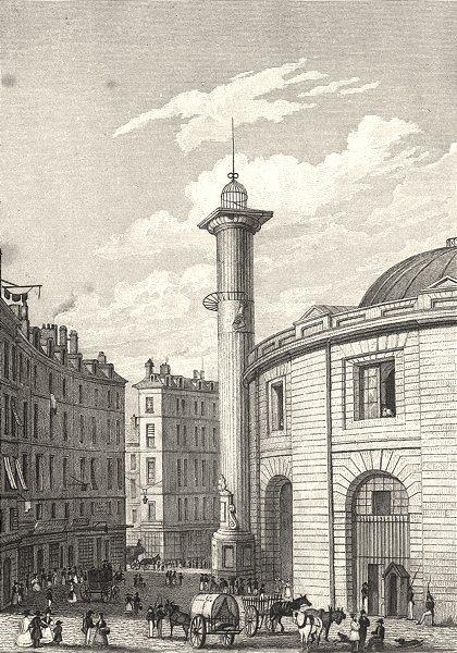 Associate Product PARIS. Halle au Blè 1831 old antique vintage print picture