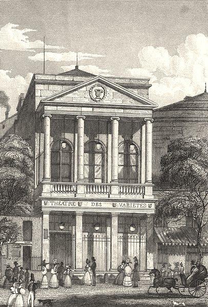 Associate Product PARIS. Thèâtre des Varietès 1831 old antique vintage print picture