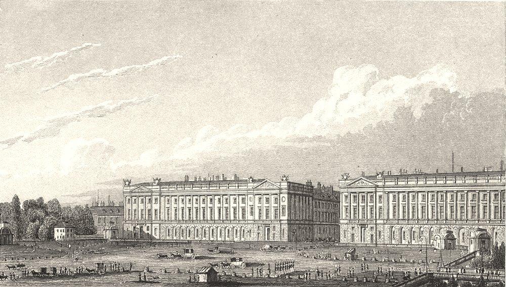 Associate Product PARIS. Place Louis Seize 1831 old antique vintage print picture