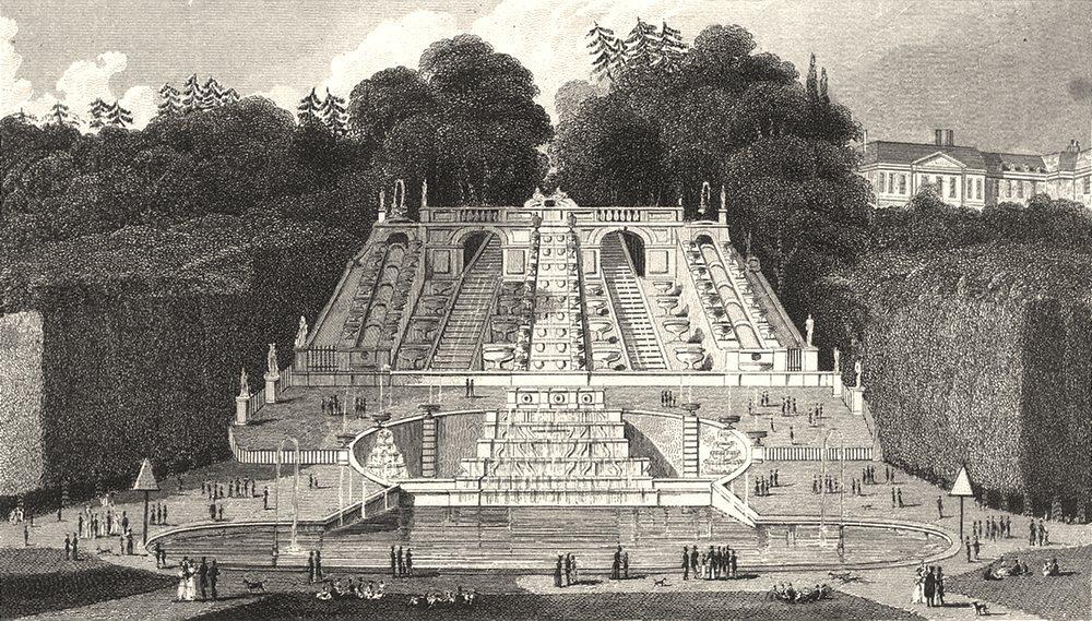 PARIS. Cascade de St. Cloud 1831 old antique vintage print picture