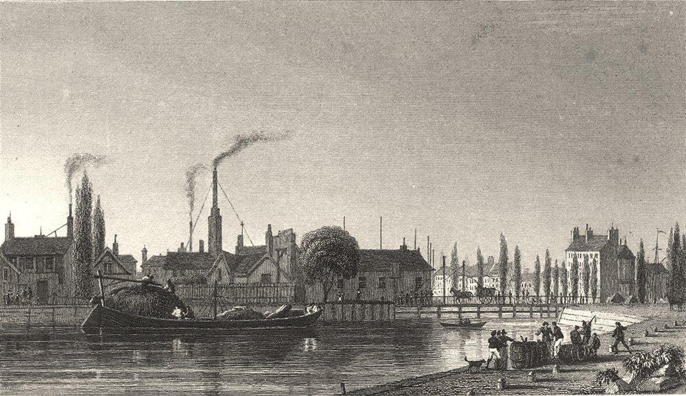 Associate Product PARIS. Canal de L'Ourcq 1831 old antique vintage print picture