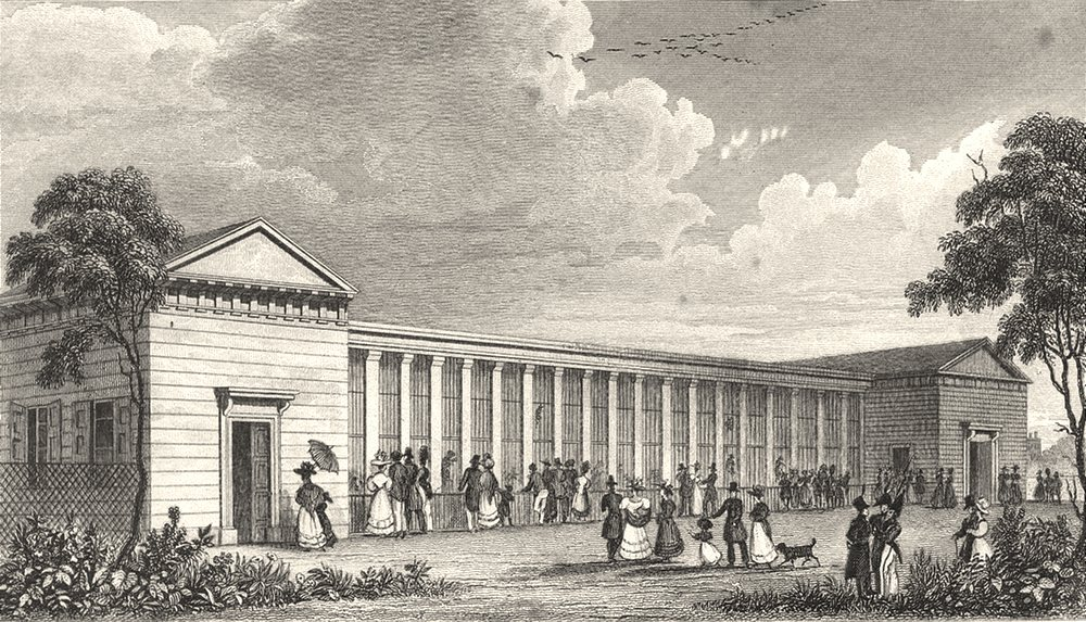Associate Product PARIS. Menagerie Jardin des Plantes 1831 old antique vintage print picture
