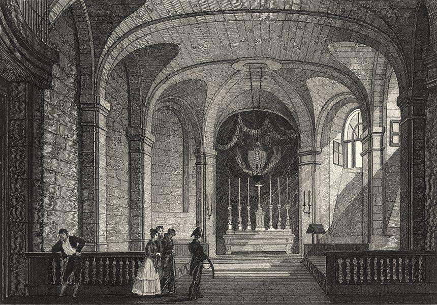 Associate Product PARIS. Chapelle de la Prison de La Conciergerie 1831 old antique print picture