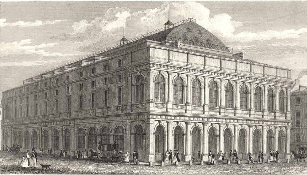 Associate Product PARIS. Nouveau Thèâtre Feydeau 1831 old antique vintage print picture