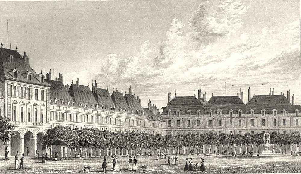 Associate Product PARIS. Place Royale 1831 old antique vintage print picture