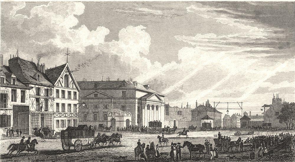 Associate Product PARIS. Barriere St. Denis 1831 old antique vintage print picture