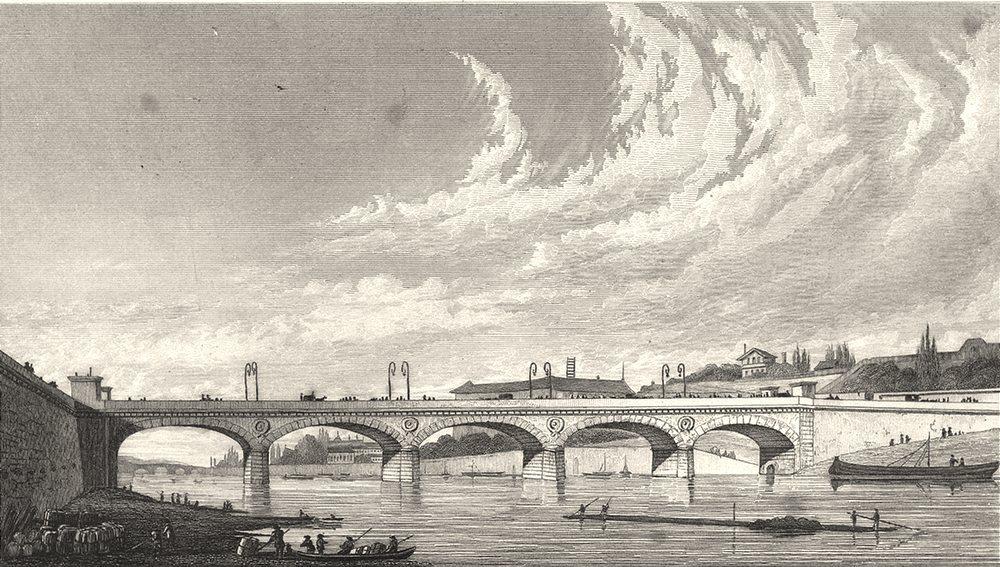 Associate Product PARIS. Pont de Jena 1831 old antique vintage print picture