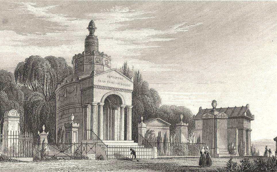 Associate Product PARIS. Monumens, Pere La Chaise 1831 old antique vintage print picture