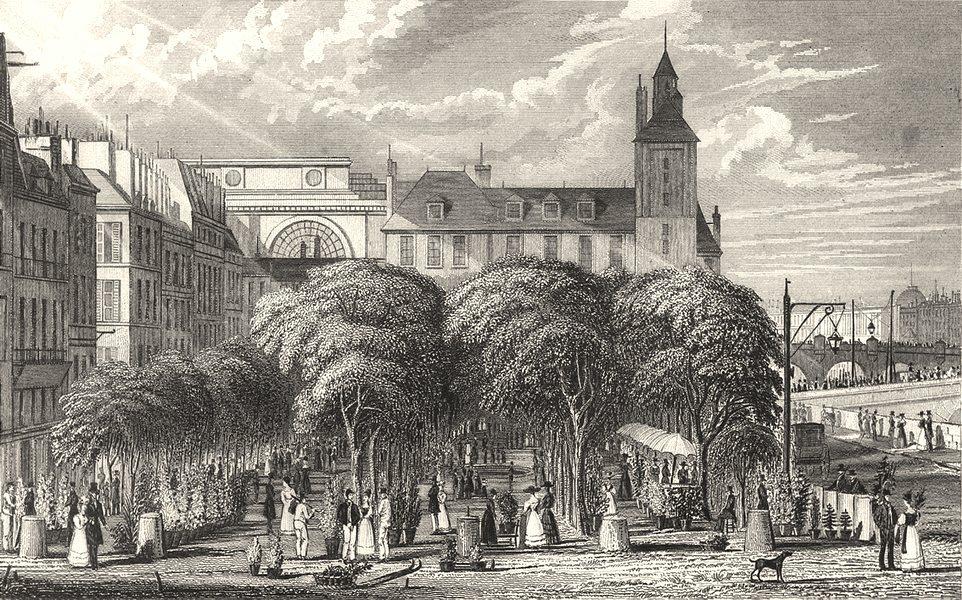 Associate Product PARIS. Marché Aux Fleurs 1831 old antique vintage print picture