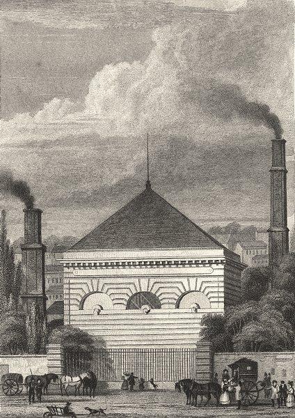 Associate Product PARIS. Pompe a Feu, Passy 1831 old antique vintage print picture