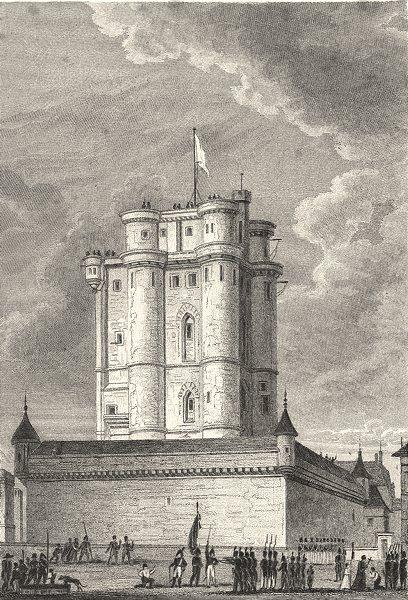 Associate Product VAL- DE- MARNE. Donjon du Chateau de Vincennes 1831 old antique print picture