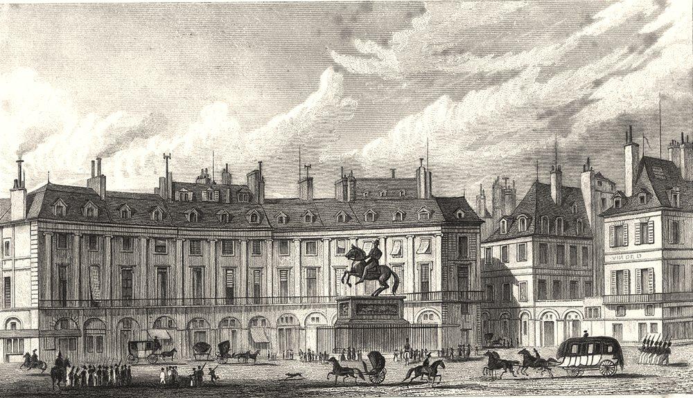 Associate Product PARIS. Place des Victoires 1831 old antique vintage print picture
