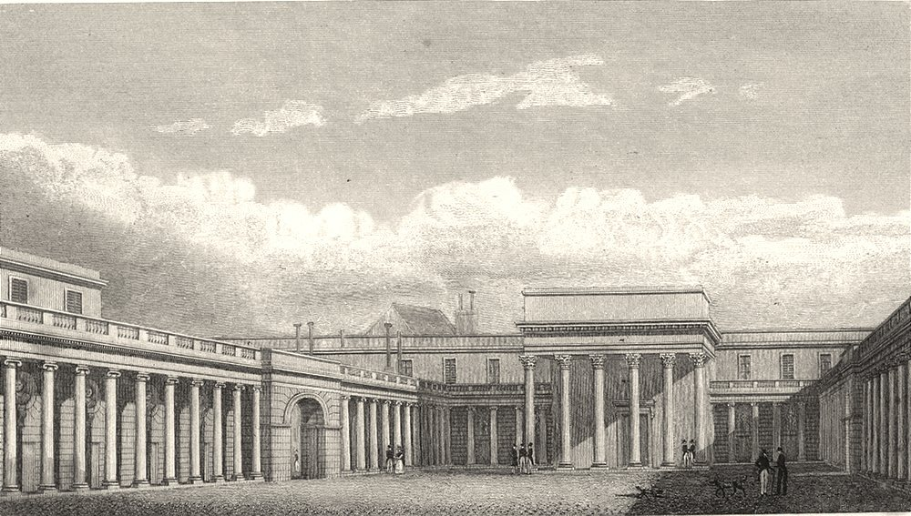 Associate Product PARIS. Cour du Palais de La Legiön D' Honneur 1831 old antique print picture