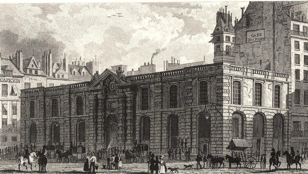 Associate Product PARIS. Chateau D' Eau Vers Palais Royal 1831 old antique vintage print picture
