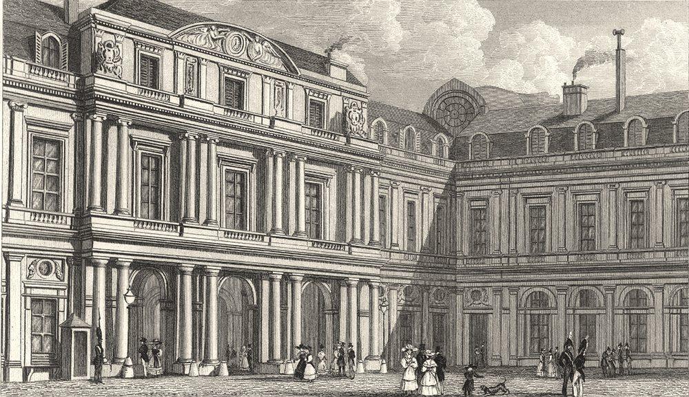 Associate Product PARIS. Palais du duc D'Orleans (Prise de La Cour)  1831 old antique print
