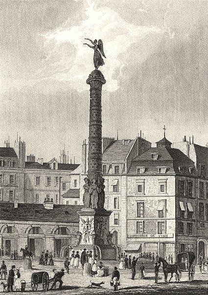 Associate Product PARIS. Fontaine du Châtelet 1831 old antique vintage print picture