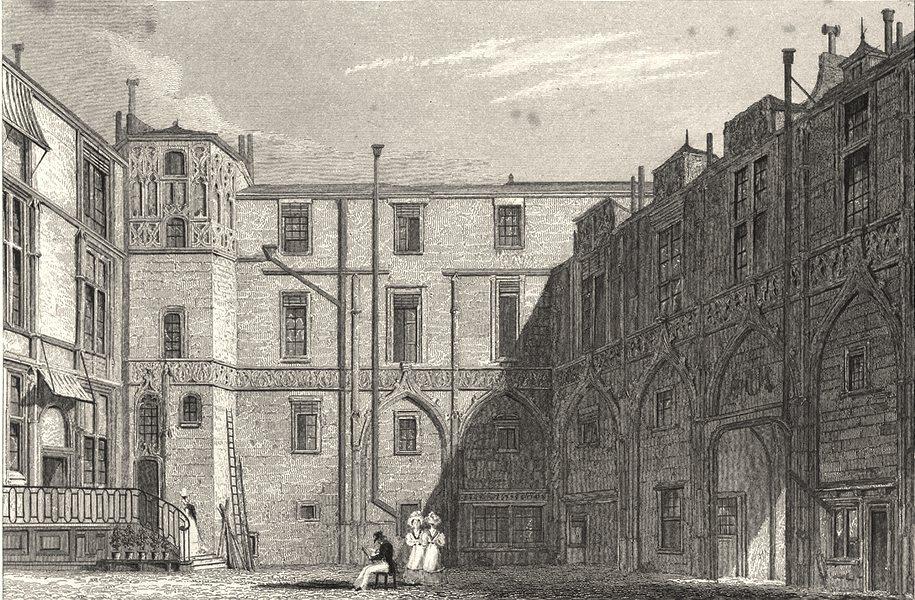 Associate Product PARIS. Hotel du Preux (Rue des Bourdonnais)  1831 old antique print picture