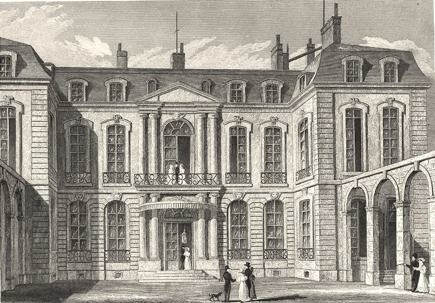 PARIS. Hotel de L' Ambassadeur D'Angleterre 1831 old antique print picture