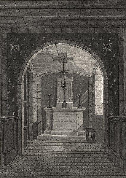 Associate Product PARIS. Chapelle Expiatoire, Conciergerie 1831 old antique print picture