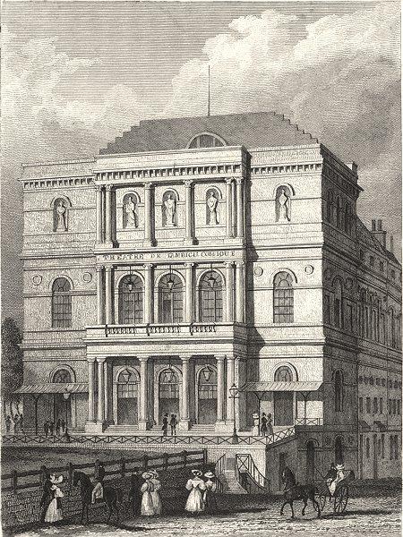 PARIS. Theâtre de L' Ambigu Comique 1831 old antique vintage print picture